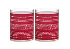 Bolsius kaarsen Sparkle Light lint rood - 2 stuks