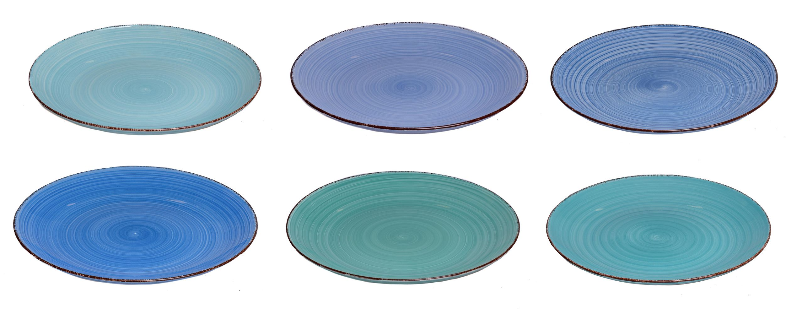 Studio Tavola Dinner Plates Ocean Blue 27 Cm 6 Free Shipping From 99 On Cookinglife Eu