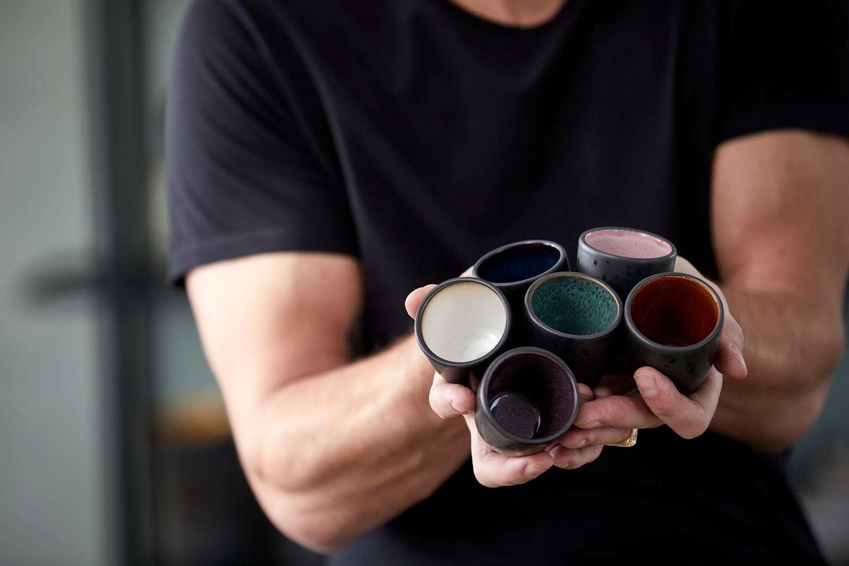 BITZ Espresso Cup Black Stoneware