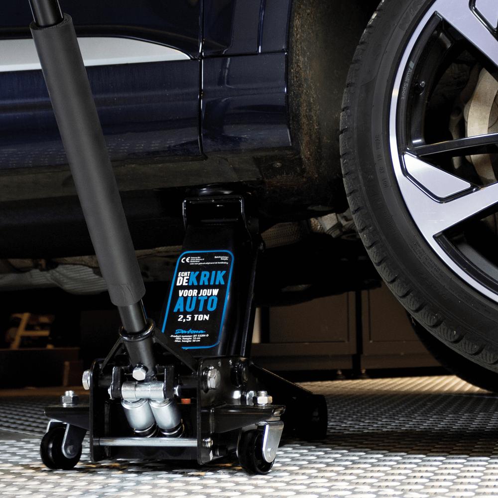 Hydraulische autokrik - 2,5 ton + Verrijdbare garage ligkar extra lang 4