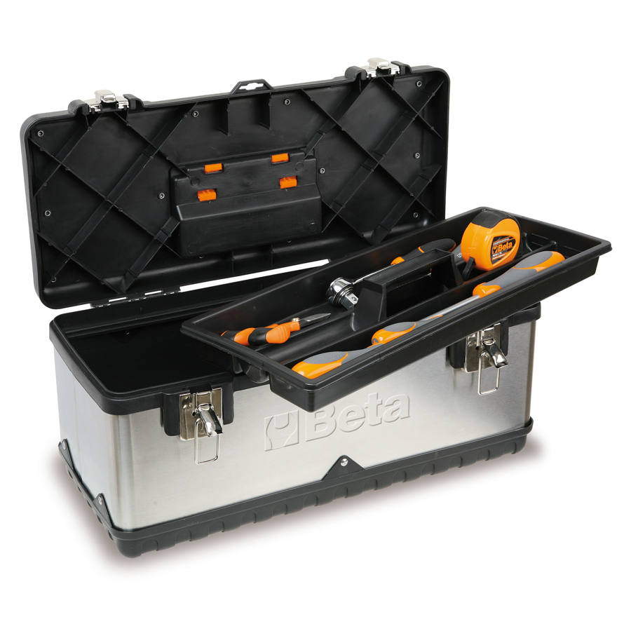 Beta RVS gereedschapskoffer - extra groot 2