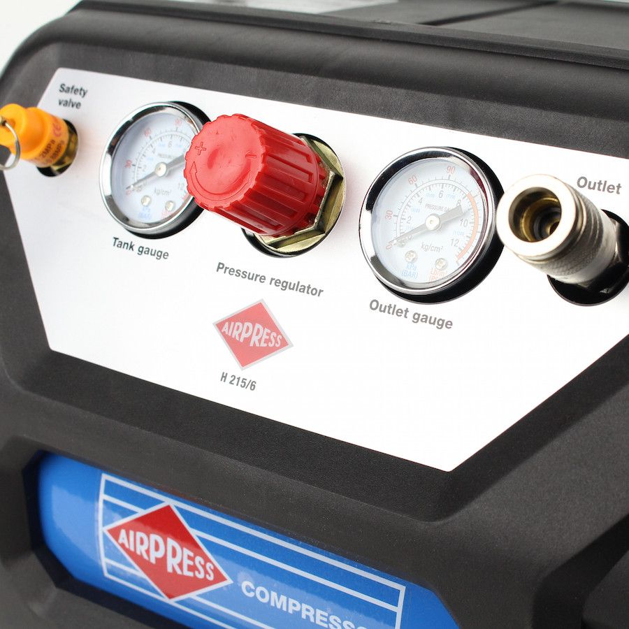 Draagbare compressor Airpress 215/6 230V 2