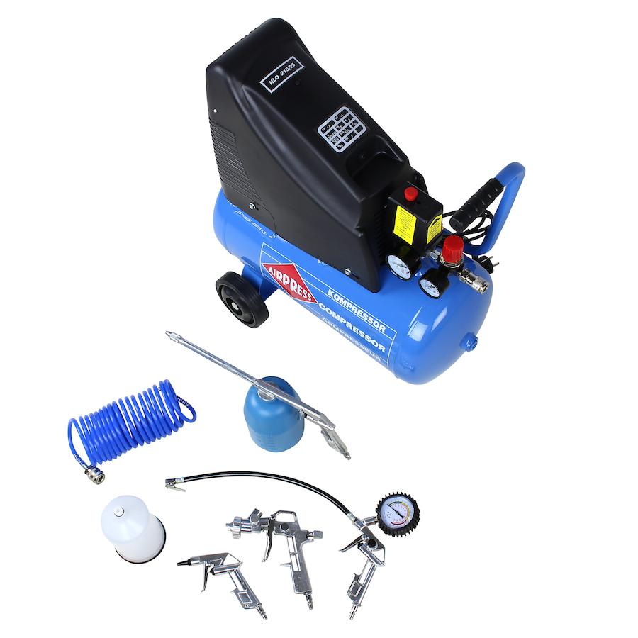 Compressor met set accessoires HLO 215/25 2