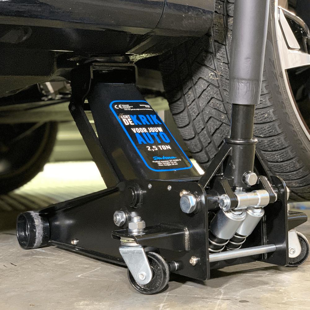 Hydraulische autokrik - 2,5 ton + Verrijdbare garage ligkar extra lang 2