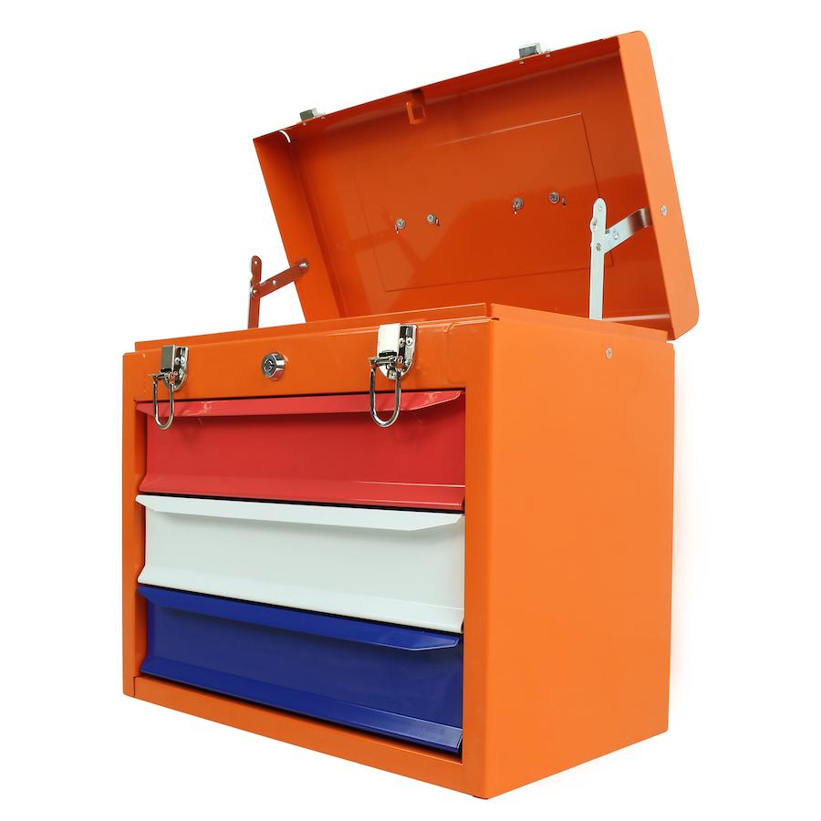 Gereedschapskist met drie lades - Oranje boven 4