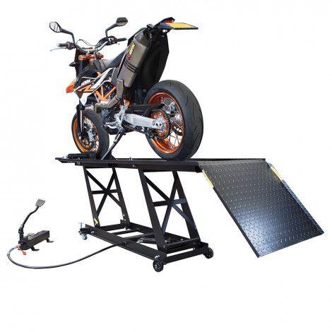 Motorheftafel hydropneumatisch met MotoGP Paddockstand set 1