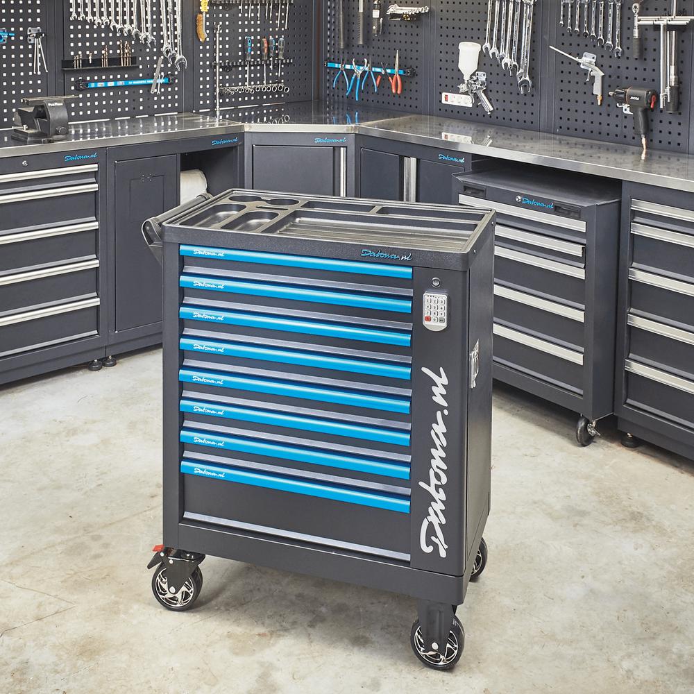 Gevulde gereedschapswagen met cijferslot Ultimate PRO 8 lades 5 lades gevuld 11