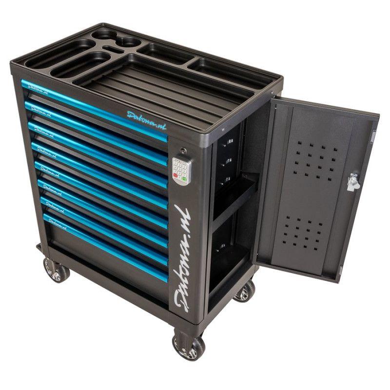 Gevulde gereedschapswagen met cijferslot Ultimate PRO 8 lades 5 lades gevuld 8