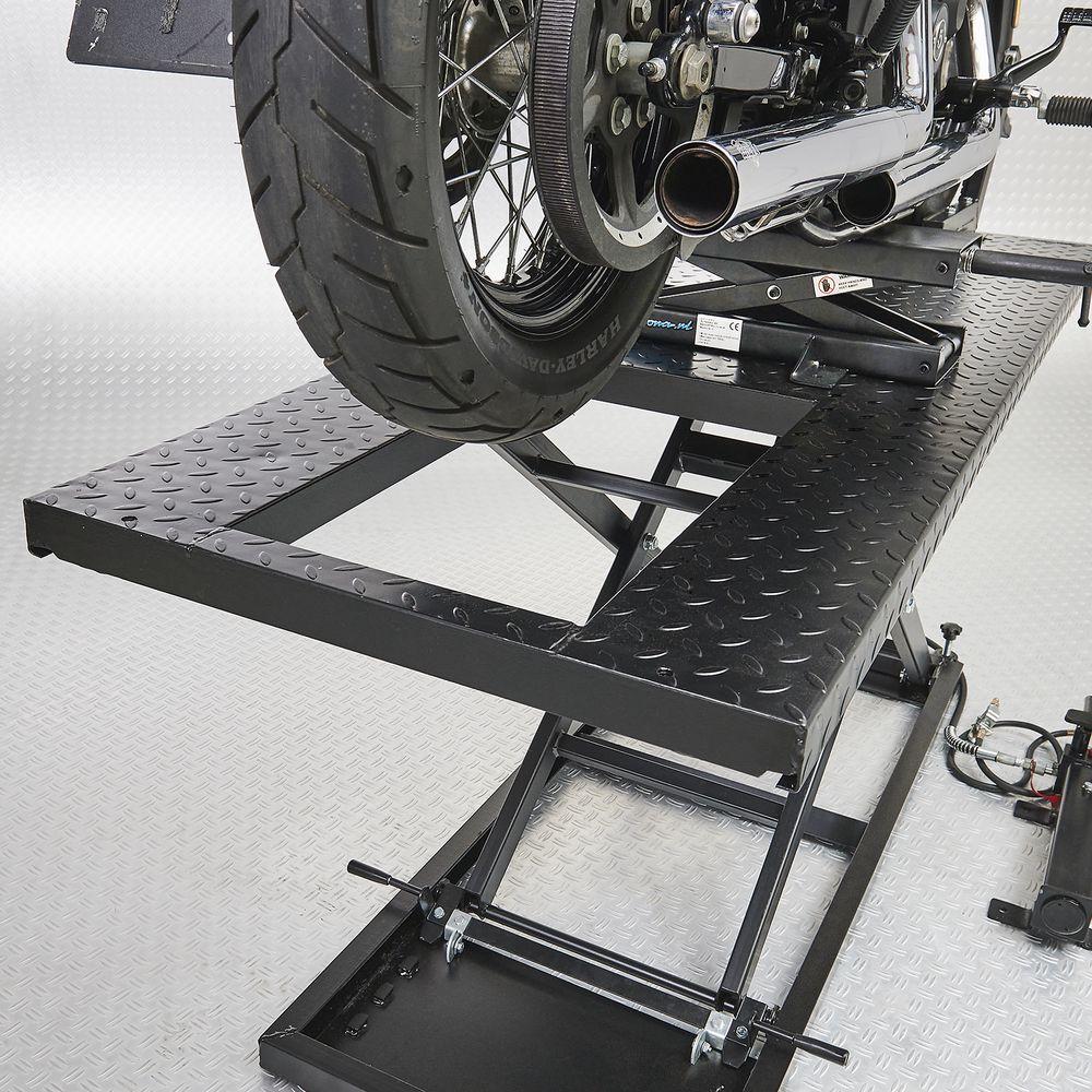 Uitneembare achterplank motorheftafel 700 kg
