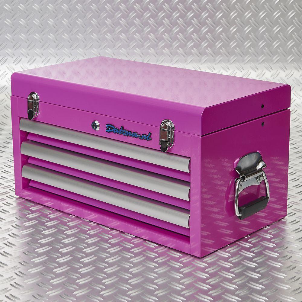 roze koffer voor tools 51101 pink
