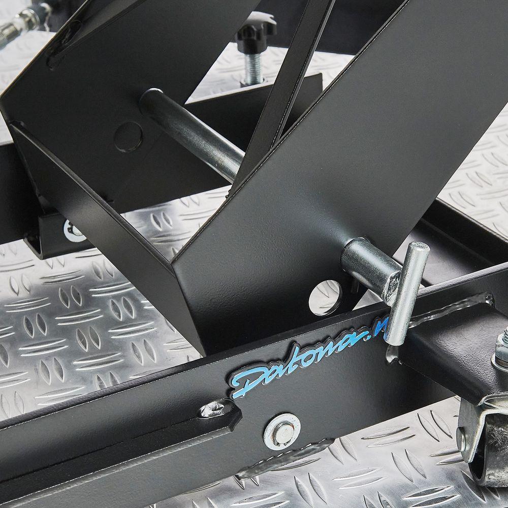 Zwarte motorheftafel 450 kg vergrendeling