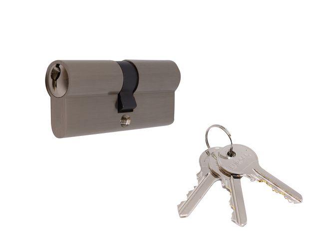 Cilinderslot 35 - 35 mm Gelijksluitend voor Inbouw Cilindersloten - Per Stuk