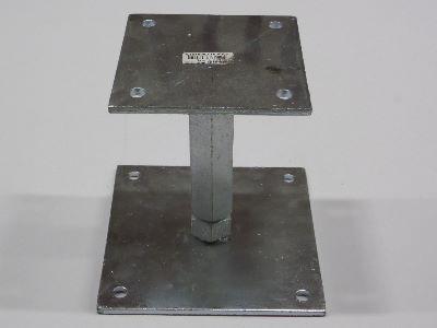 Support pour poteau réglable galvanisé M20 - Extrêmement solide