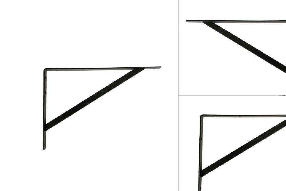 Shelf bracket Black Metal 250 x 400 mm