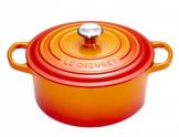 Le Creuset braadpan Signature oranje-rood Ø 26 cm