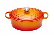 Le Creuset braadpan ovaal Signature oranje-rood Ø 27 cm
