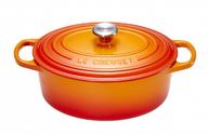Le Creuset braadpan ovaal Signature oranje-rood Ø 29 cm