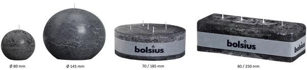 Bolsius Kugelkerze Rustik Weinrot Ø 80 mm
