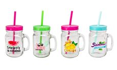 Drinkbekers Summerprint 50 cl - 4 Stuks