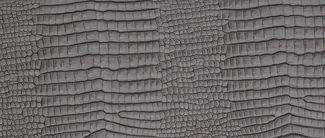 LIND DNA Onderzetter Leer Croco Zilver Zwart 11 x 13 cm