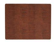 LIND DNA Placemat Leer Croco Cognac 35 x 45 cm