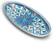 Dishes_Deco_Ovale_Schaal_Turquoise_Blue_Fine_30_cm