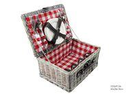 Picknickmand Ruit Rood 4 Personen