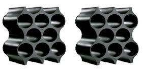Koziol Wijnrekken Stapelbaar Set-Up Zwart 36 cm - 2 Stuks
