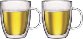 Bodum Dubbelwandige Glazen Met Oor Bistro 45 cl - 2 Stuks