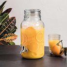 Drank Dispenser Met Kraan Glas 4 Liter