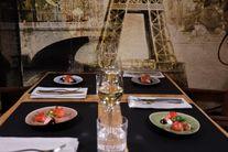Jay Hill Tischsets Leder Cognac Schwarz 33 x 46 cm - 6 Stück