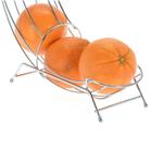 Sinaasappelrek Chroom 33 x 10 cm