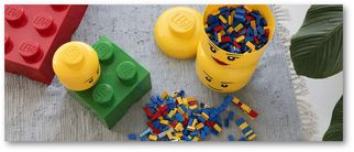 LEGO® Opbergbox Rood Ø 12.3 x 18.3 cm