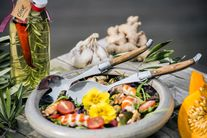 Laguiole Style de Vie Saladebestek Olijfhout Deluxe