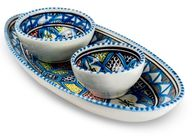 Dishes & Deco Ovale Turquoise Blue Set 3-Delig