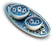 Dishes & Deco Ovale Turquoise Blue Fine Set 3-Delig
