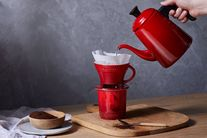 Le Creuset Wasserkessel Drip Ofenrot 0,7 Liter