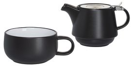Maxwell & Williams Tea For One Theeset Tint Zwart