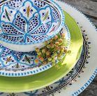 Dishes & Deco Ovalen Turquoise Blue Fine Set 3-Delig