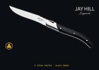 Jay Hill Steakmessen Laguiole Zwart 6 Stuks
