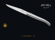 Jay Hill Steakmessen Laguiole RVS 6 Stuks