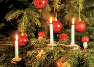 Bolsius kerstboomkaarsjes wit sfeer