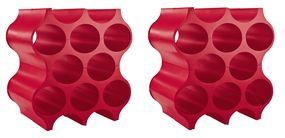 Koziol Wijnrekken Stapelbaar Set-Up Rood 36 cm - 2 Stuks