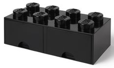 LEGO® Opbergbox met Lades Zwart 50 x 25 x 18 cm