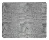LIND DNA Placemat Leer Croco Zilver Zwart 35 x 45 cm