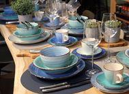 Ontbijtborden Ocean Blue Ø 19 cm - 6 Stuks