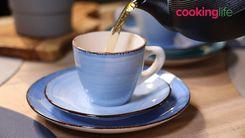 Koffieset Ocean Blue 18-Delig