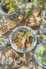 Dishes & Deco Ovalen Pavo Set 3-Delig