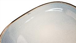 Cosy & Trendy Plat Bord Fez Blauw Ovaal 24 x 31 cm