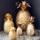 Cosy & Trendy Serveerschaal Ananas Zwart 29 x 15.5 cm